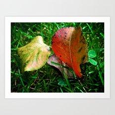 Autumn study, two. Art Print