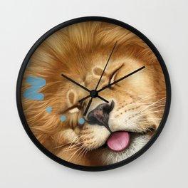 Sleeping Lion Wall Clock
