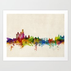 Amsterdam The Netherlands Skyline Art Print