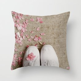 Truckstop Flower Throw Pillow