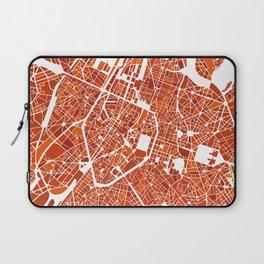 Brussels City Map III Laptop Sleeve