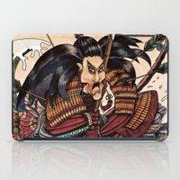 samurai iPad Cases featuring Samurai by RICHMOND ART STUDIO