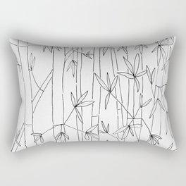 Bamboo Sketch Rectangular Pillow