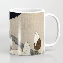 Myna On Magnolia Traditional Japanese Wildlife Coffee Mug