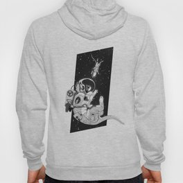 Space Cat - Black and White Hoody