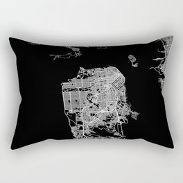san francisco map Rectangular Pillow