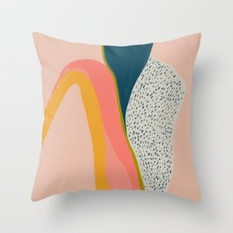 Colorful Abstract Textures Throw Pillow