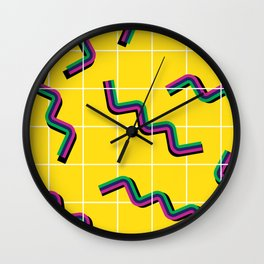 Springs gone wild Wall Clock