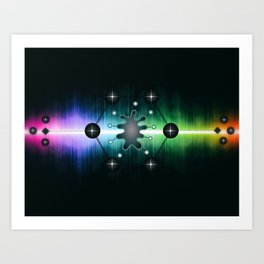 Neuromorphic Chip - Futuristic Technology Art Print