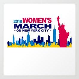 woman march Art Print