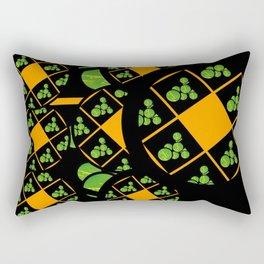 Orange and Green Spaces 100 Rectangular Pillow