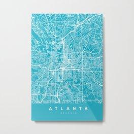 ATLANTA Map Georgia | Aqua | More Colors, Review My Collections Metal Print