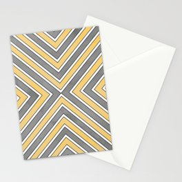 Stripes in Grey and Yellow-bold Stationery Cards