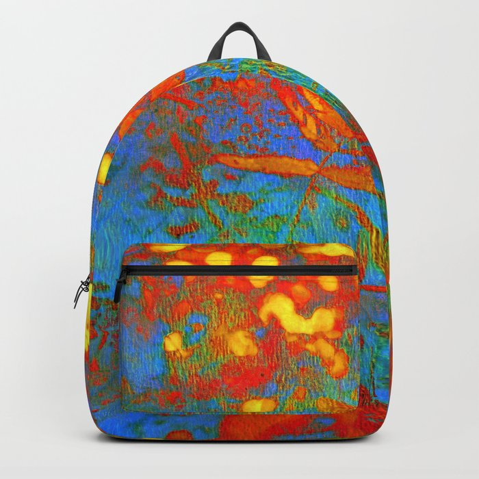 bright abstract leaves Backpack