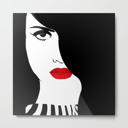 Francesca, original Fashion art Metal Print