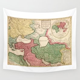 Map of the Middle East (1712) Wall Tapestry