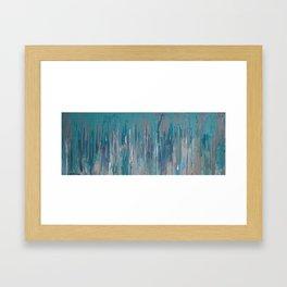 blue sky rain Framed Art Print