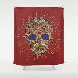 Golden catrina Shower Curtain
