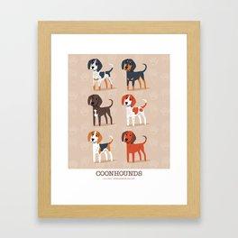 Coonhounds! Framed Art Print