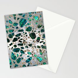 Terrazzo - Mosaic Abalone Pearl and Gold #1 Stationery Cards