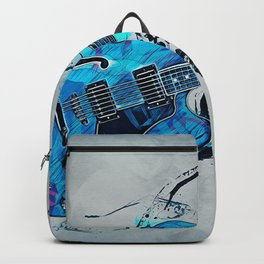 Blue Electric Guitar Backpack