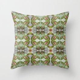 Coleus Leaves Pattern Throw Pillow