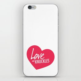 Love and Knuckles (Heart Graphic) iPhone Skin