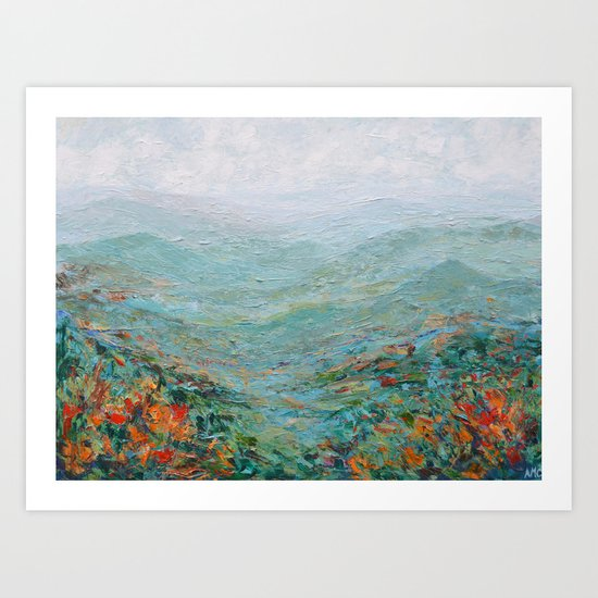 Blue Ridge October Art Print