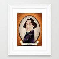 oscar wilde Framed Art Prints featuring Oscar Wilde said... by Mrs Peggotty