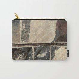 Textured Marble Popular Painterly Abstract Pattern - Black White Gray Red - Corbin - Artist Carry-All Pouch