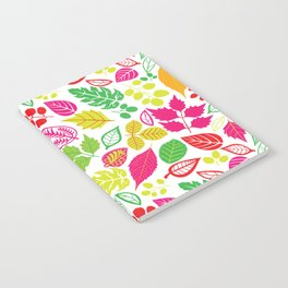 Colorful Thankful Fall Leaves Autumn Notebook