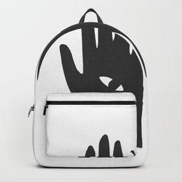 Hands Eye Black Backpack