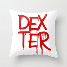 word: Dexter Throw Pillow