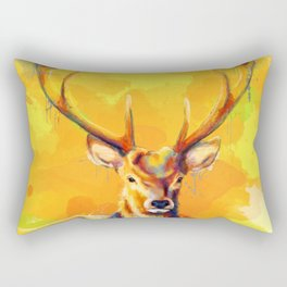 Forest King - Deer painting Rectangular Pillow