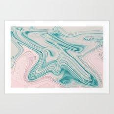 Pastel melt Art Print