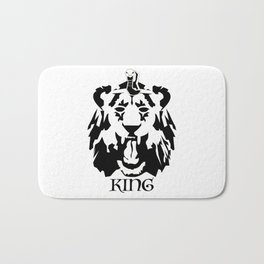 Royalty - Black on white Bath Mat