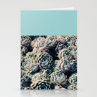 succulents Stationery Cards featuring Succulents by Leah Flores