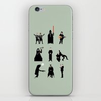 men iPhone & iPod Skins featuring Men in Black by Eric Fan