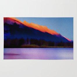 Banff Canada Vintage Travel Poster Rug