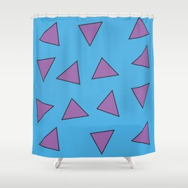 Rocko's Triangles Shower Curtain