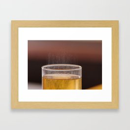 Fizzy Amber Drink in Glass Framed Art Print