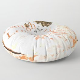 Bringing a Bit of Honey into One's Life Floor Pillow