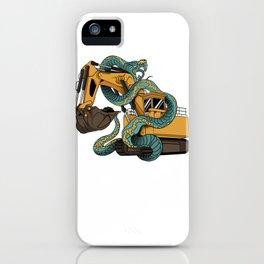 Excavator vs Anaconda iPhone Case