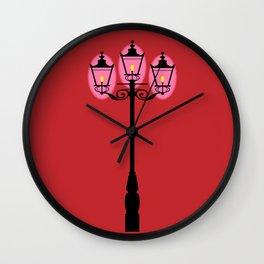 Victorian Street Light Wall Clock