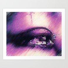 Tears - Pencil Drawing Art Print