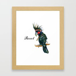 Chief Black parrot Framed Art Print