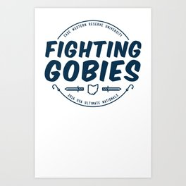 Fighting Gobies Nationals - Blue Art Print