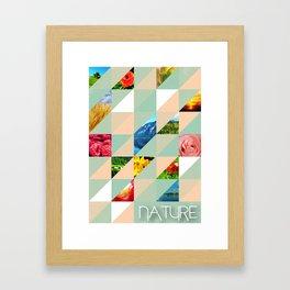 Triangle nature Framed Art Print