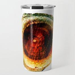 Burnished Earthen Geode Travel Mug