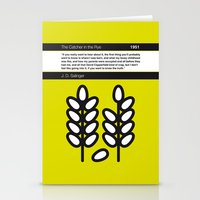 catcher in the rye Stationery Cards featuring No016 MY The Catcher in the Rye Book Icon poster by Chungkong